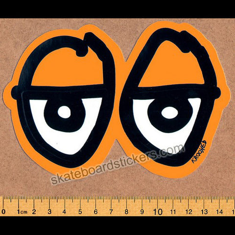 Krooked Orange Eyes Skateboard Sticker - SkateboardStickers.com