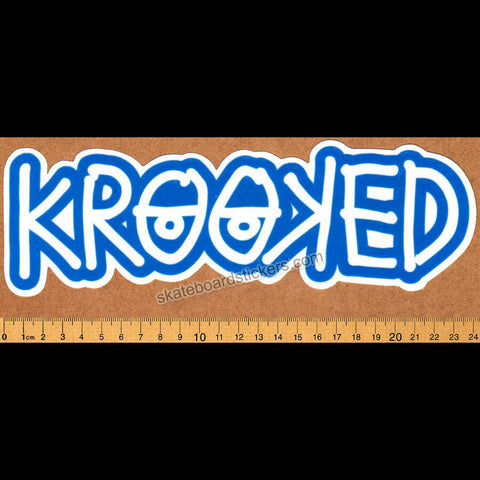 Krooked -  Klear Eyes Blue Skateboard Sticker - SkateboardStickers.com