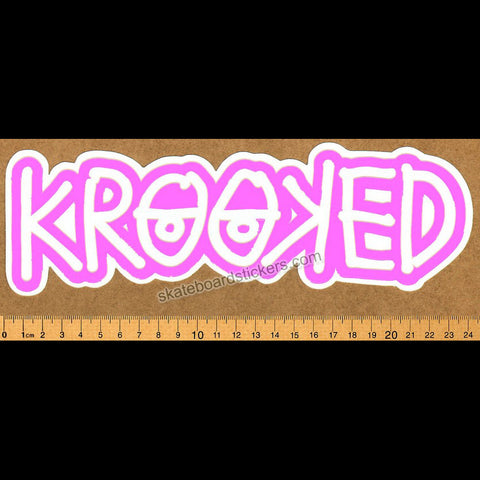 Krooked -  Klear Eyes Pink Skateboard Sticker - SkateboardStickers.com