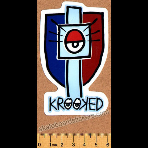 Krooked Skateboard Sticker - SkateboardStickers.com