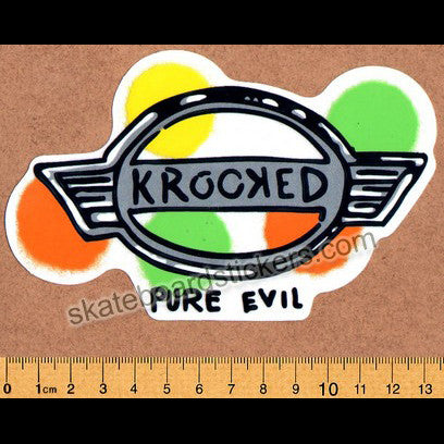 Krooked -  Gonz Pure Evil Skateboard Sticker