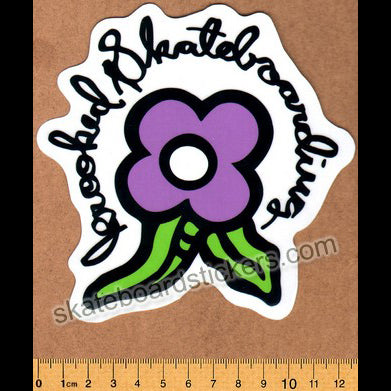 Krooked -  Purple Bloom Skateboard Sticker