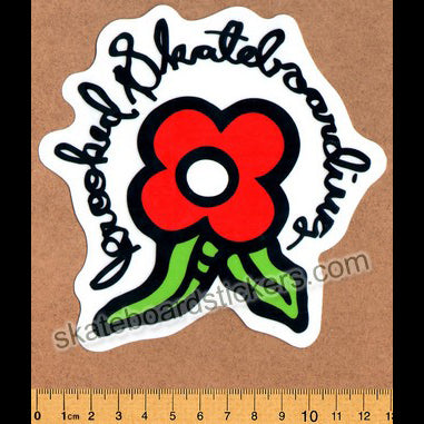 Krooked -  Red Bloom Skateboard Sticker