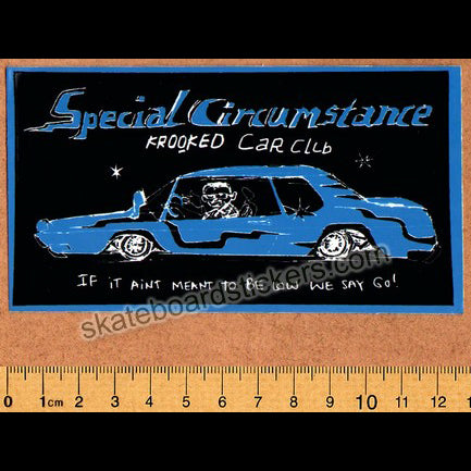 Krooked - Car Club Skateboard Sticker