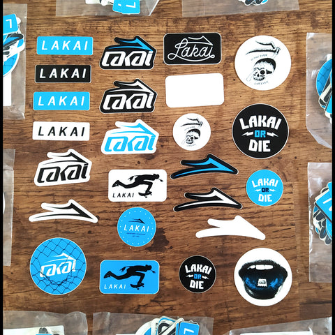Lakai Skate Shoes Skateboard Sticker Pack of 24 Stickers - blue