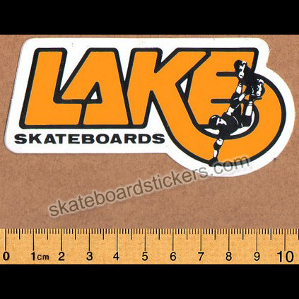 Lake Old School Vintage Skateboard Sticker