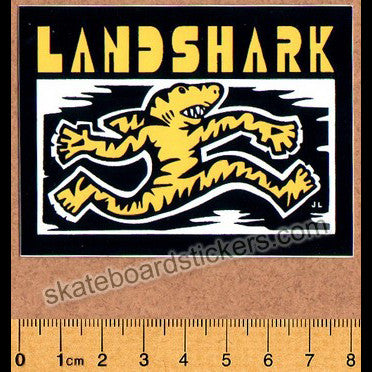 Land Shark Crew Clothing Sharkwalk Skateboard Sticker - SkateboardStickers.com