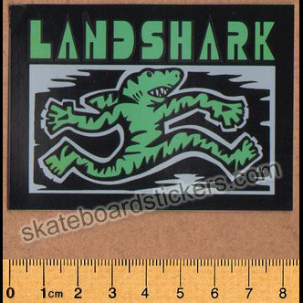 Land Shark Crew Sharkwalk Skateboard Sticker - Green
