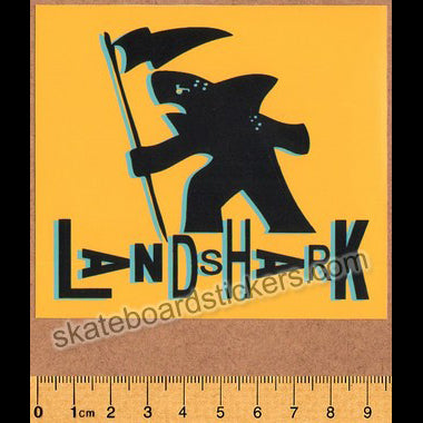 Land Shark Crew Gotshark Skateboard Sticker - Yellow
