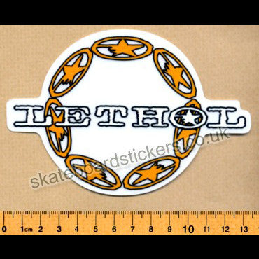 Lethol Old School Skateboard Sticker - SkateboardStickers.com