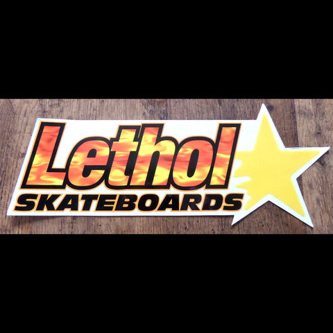 Large Lethol Old School Skateboard Sticker