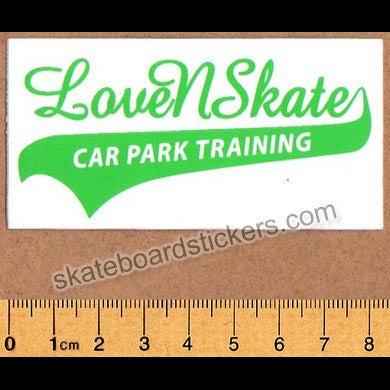 Lovenskate Skateboard Sticker - Car Park Training