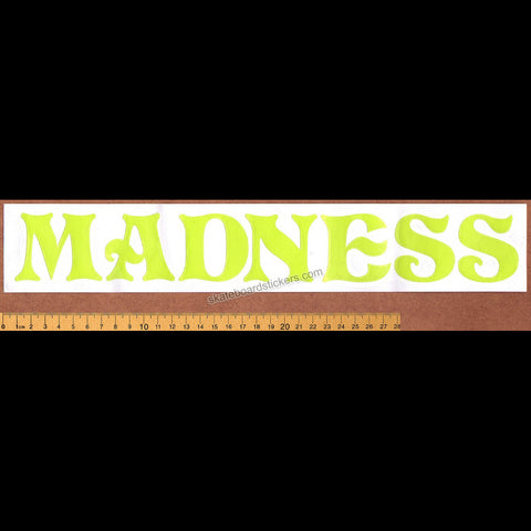 Madness Rub-on Skateboard Sticker - Large