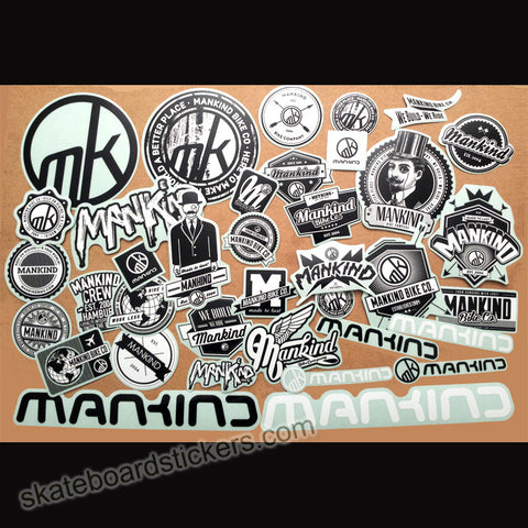 Mankind BMX Sticker Pack - 35+ Stickers