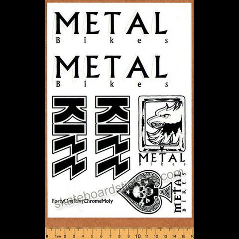 Metal Bikes - Kizz BMX Limited Edition Collectors Sticker Sheet - Grey/Black