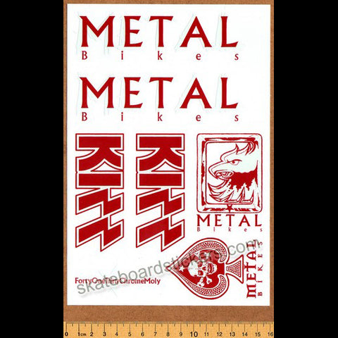 Metal Bikes - Kizz BMX Limited Edition Collectors Sticker Sheet - Grey/Red
