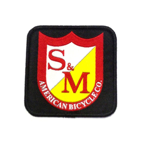 S&M BMX Bikes Square Shield Patch