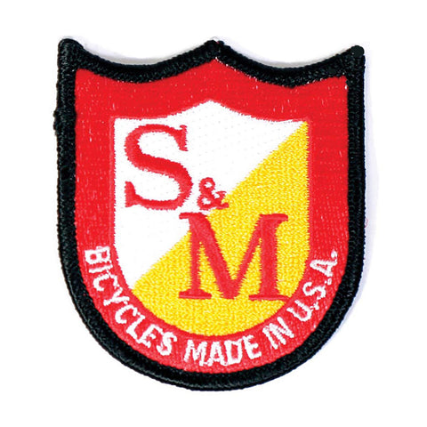 S&M BMX Bikes Classic Shield Patch