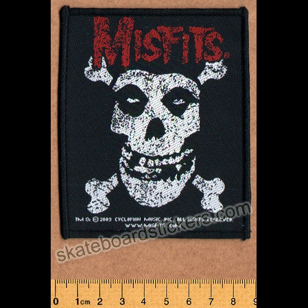 Misfits Sew-on Music Patch: Cross Bones - SkateboardStickers.com