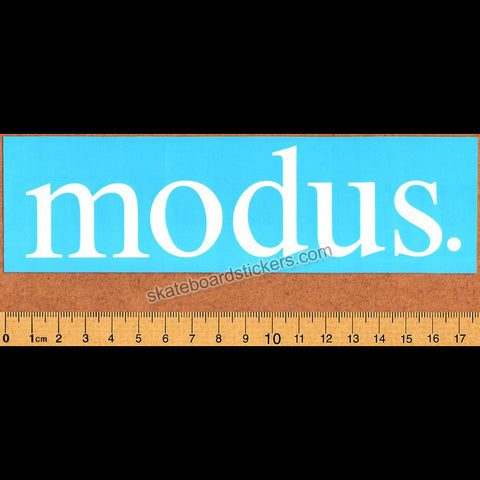 Modus Bearings Skateboard Sticker