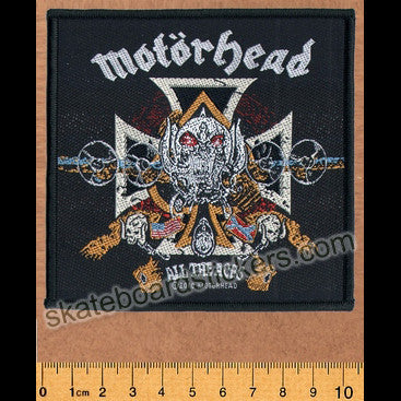 Motorhead Sew-on Music Patch: All The Aces - SkateboardStickers.com
