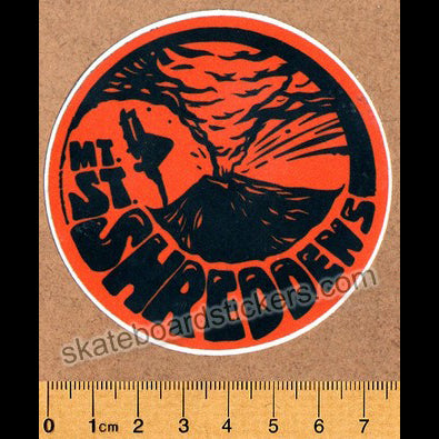 Mt. St. Shreddens Skateboard Sticker