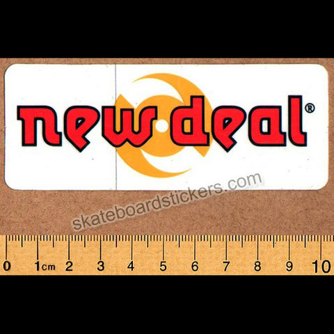 New Deal Old School Skateboard Sticker