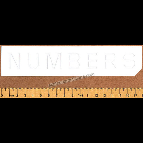 Numbers Skateboard Sticker