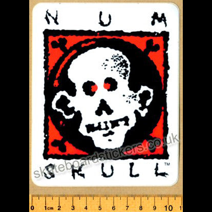 Num Skull Old School Skateboard Sticker - SkateboardStickers.com
