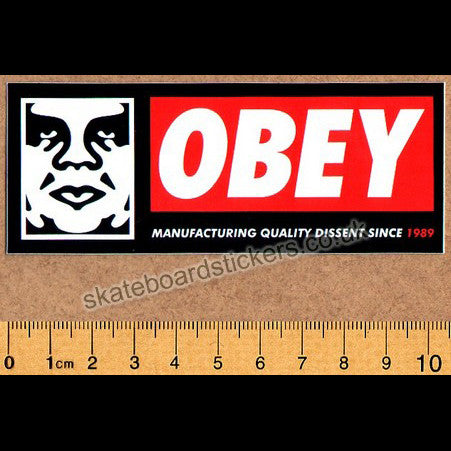 Obey Skateboard Sticker - SkateboardStickers.com