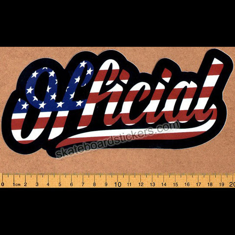 Official Skateboard Sticker - Stars and Stripes - SkateboardStickers.com
