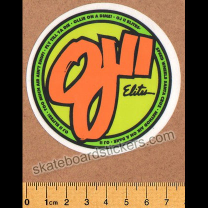 OJ Wheels Skateboard Sticker