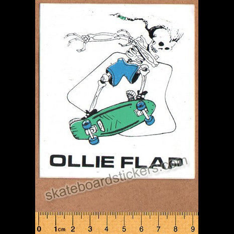 Ollie Flaps Old School Skateboard Sticker