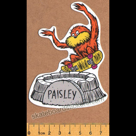 Paisley Skates Skateboard Sticker - Old School
