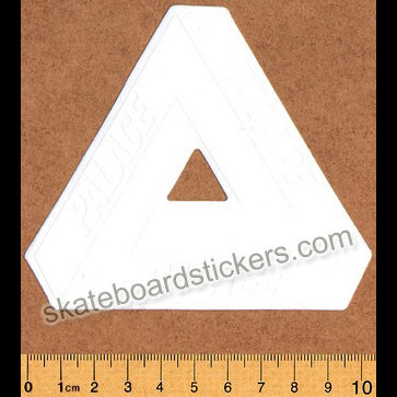 Palace (DEFECTED - PLEASE READ) Tri-Ferg Skateboard Sticker - White