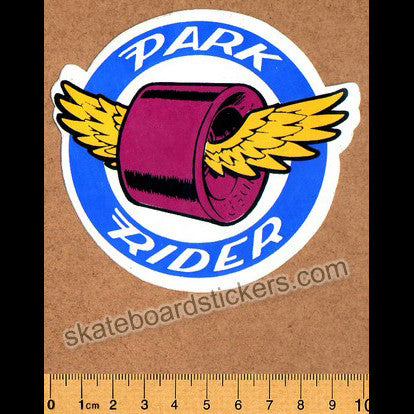 Santa Cruz Park Rider Vintage 70s Old School Skateboard Sticker
