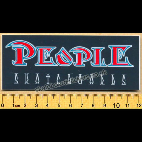 People Old School Skateboard Sticker - SkateboardStickers.com