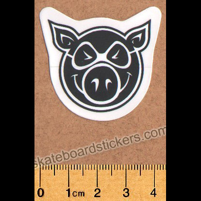 Pig Wheels Skateboard Sticker