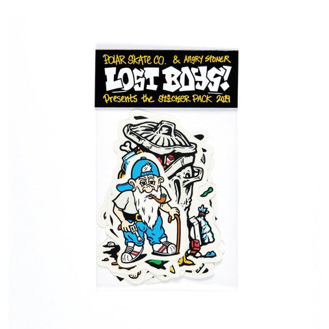Polar Skate Co & Angry Stoner - Lost Boys Skateboard Sticker Pack of 24 Stickers