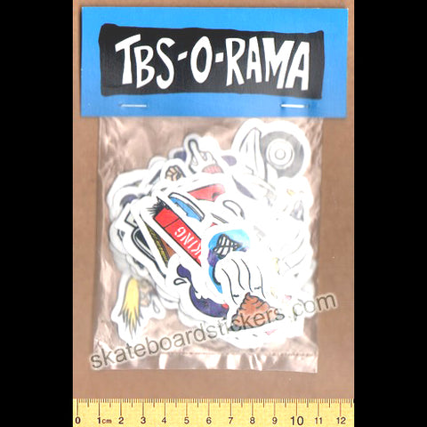 Polar Skate Co - TBS-O-RAMA Skateboard Sticker Pack of 26 Stickers