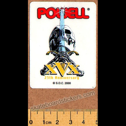 Powell Peralta Old School Vintage Skull & Sword Skateboard Sticker