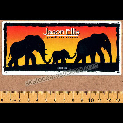 Powell Peralta Jason Ellis Elephants Old School Vintage Skateboard Sticker