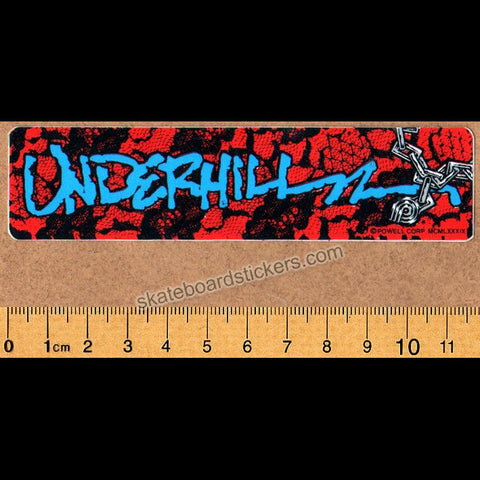 Powell Peralta Old School Vintage Ray Underhill Skateboard Sticker