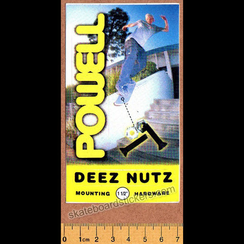 Powell Peralta Deez Nutz Old School Skateboard Sticker