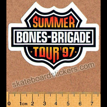Powell Peralta Old School Vintage Summer Tour '97 Skateboard Sticker
