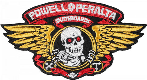 Powell Peralta Winged Ripper Skateboard Patch - Medium