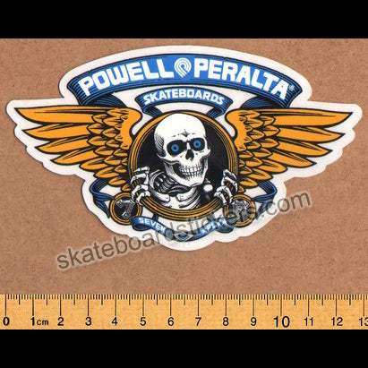 Powell Peralta Winged Ripper Skateboard Sticker - Blue