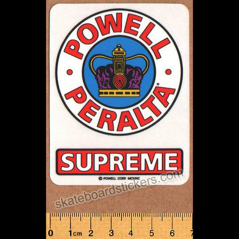 Powell Peralta Old School Bones Brigade Supreme Skateboard Sticker