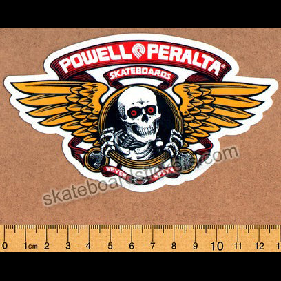 Powell Peralta Winged Ripper Skateboard Sticker - Red