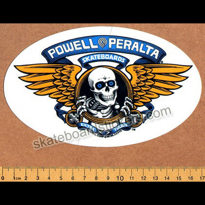 Powell Peralta Old School Bones Brigade Winged Ripper Skateboard Sticker